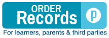 Order Records - For learners, parents & third parties
