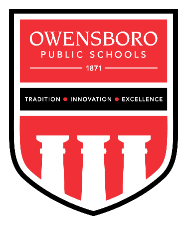 OPS Shield Logo: Owensboro Public Schools - 1871 - Tradition, Innovation, Excellence