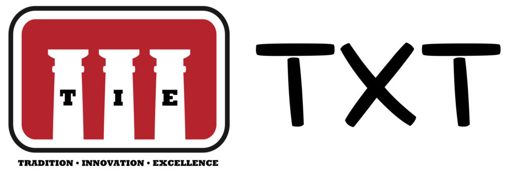 TieTxt Logo - Three pillars: Tradition, Innovation, Excellence